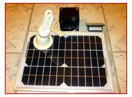 τα φωτοβολταικα, μπαταριες, ρυθμιστης και λαμπτηρας 12V